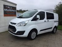2014 ford Transit custom trend model factory crew cab 125bhp Finance available
