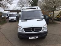 mercedes sprinter 313 cdi mwb fridge van.2013.only 52k miles.one owner.OVERNIGHT STANDBY