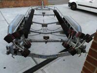 Twin Axle Galvanised Boat Trailer.