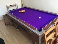 Slate based pub pool table