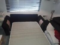 2seater sofa bed and 4 cushions