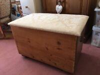 Vintage blanket box/ ottoman