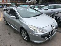 2007/57 PEUGEOT 307CC 1.6 16V SPORT 2DR SILVER,GREAT SPEC,LOW MILEAGE,FULL LEATHER, DRIVES WELL
