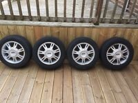 "Ford Fiesta 14"" alloys with tyres"