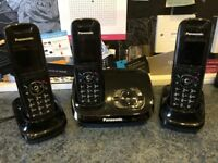 CORDLESS PHONE SET PANASONIC (3 PHONES) WITH ANSWERING MACHINE
