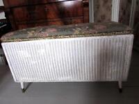 Lloyd Loom style vintage Ottoman laundry basket