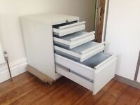 Metal 4 drawer (2 drawer equivalent) filing cabinet
