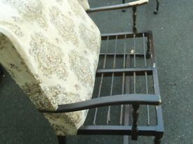 Vintage mahogany two seeter wooden frame settee