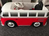 RIDE ON VW ELECTRIC SPLITSCREEN CAMPER VAN