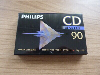 PHILIPS CD MASTER 90 audiokassette cassette audio tape sealed