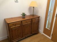 Antique pine sideboard And bookcase both by Ducal