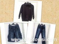 Boys size 11-12 years clothes bundle - 3 items -hoody, denim shorts, jeans