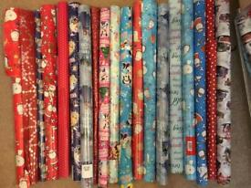 Christmas xmas wrapping paper 20 rolls of most brand new joblot bundle