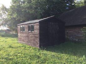 Large wooden garden shed