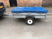 WESSEX TRAILER 5 X 3 QUALITY STRONG GALVANISED STEEL WITH COVER AND SPARE WHEEL