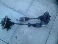Rover Metro drive shafts with hubs and discs