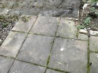 Free paving slabs and rocks