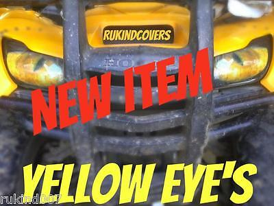 Arctic Cat ATV Yellow Eye's Headlight Covers 400 500 550 650 700 1000 Prowler