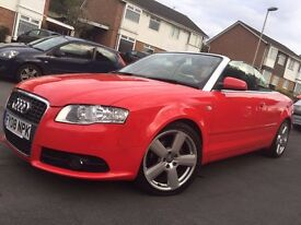 AUDI A4 2.0 CABRIOLET TDi Sline Multitronic CAMBELT CHANGED MOT'D EXCELLENT CONDITION