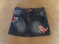 Two age 3-4 girls denim skirts
