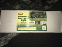 Brand new in box foldable metal football goal cost £60