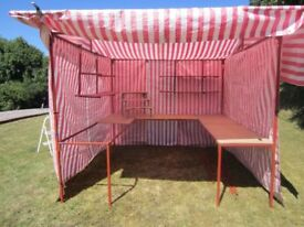 8ft x 8ft Walk in Market Stall + Display Shelving and all covers.