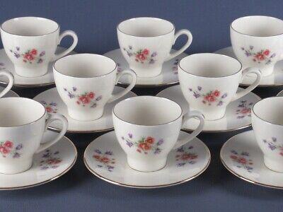 VINTAGE SERVIZIO 12 TAZZE DA CAFFE' IN CERAMICA ANNI '50 KIKMAN LIEBEN