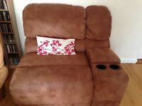 Big brown Armchair and drinks unit