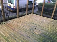 Timber decking and fence posts