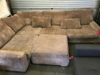 DFS HOLDEN LARGE 3 SEATER CORNER SOFA WITH MATCHING FOOTSTOOL