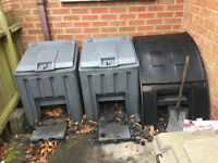 Three Plastic Coal Bunkers