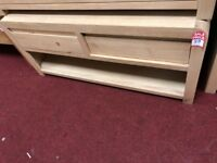 2 drawer smoke oak coffee table