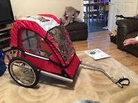 Single buggy bike trailer