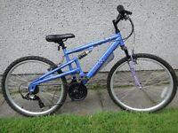 Apollo XC 26 bike , 26 inch wheels, 17 inch frame, 18 gears, front suspension