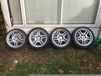18inch mercedes alloy wheels amg style split rim 5x112