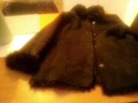 Suede fur lined jacket