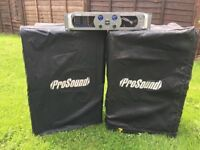 """Pro sound 1600 Amplifier and 15"""" Speakers"""