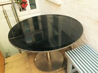 Dining table, granite top. Perfect condition