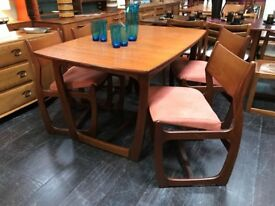Dining Table & 4 Chairs by Portwood Furniture. Retro Vintage.