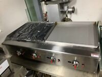 COMMERCIAL CATERING HALF FLAT PERI PERI CHICKEN GRILL 120 CM FAST FOOD TAKE AWAY