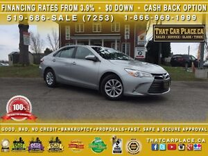 2016 Toyota Camry LE-$70/Wk-Clean Carproof-RearCam-AUX-Bluetooth