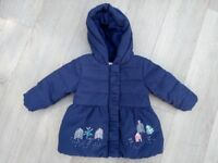 Winter coat 6-9 months (M&S) - like new