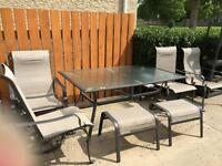 8pc table and chair patio set