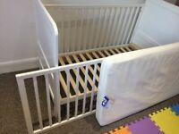 John Lewis Cot / Toddler Bed and Mattress - birth to age 5