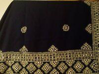 beautiful large blue shawl