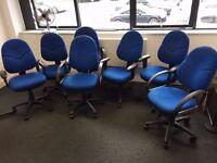 OFFICE/STUDY/WORK/ADMIN/SWIVEL/ADJUSTABLE/CHEAP/BLUE CHAIRS (URGENT SALE)