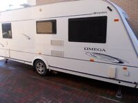 2008 Compass Omega 544 Fixed bed, motor mover & dorema awning