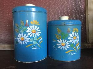 Vintage tin cannisters