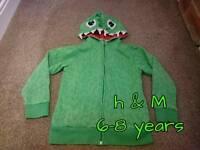 Dinosaur hoodie age 6-8