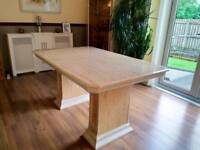Extendable Marble Look - High Gloss Dining Table